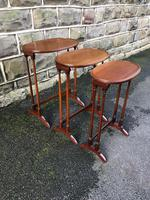 Antique Mahogany Nest of 3 Tables (7 of 7)