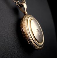 Victorian diamond locket, 9ct gold (10 of 11)