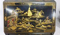 Outstanding Chinoiserie / Laquered Bureau (4 of 15)