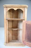 Rustic Pine Corner Cupboard Handpainted Fishing Scene (10 of 12)