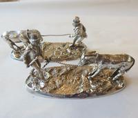 Victorian knife rests - gentleman coaxing a donkey over a stream - 1883 (9 of 11)