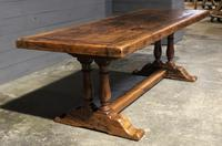 Wonderful French Chestnut Farmhouse Refectory Dining Table (34 of 37)