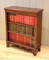 Edwardian Inlaid Mahogany Open Bookcase (3 of 8)