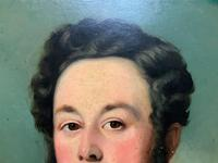 Lovely 19th Century Victorian Antique Half-Length Oil Portrait Painting of a Smart Chap (5 of 12)