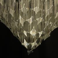 Italian Venini Crystal Triple Light Chandelier (8 of 10)