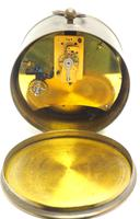 French Drum Carriage Clock Rare Enamel Dial Drum Case Mantel Clock Platform Balance (3 of 8)