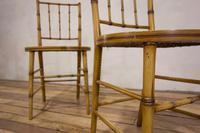 A Pair Of Late 19th Century Painted Faux Bamboo Side Chairs (8 of 11)