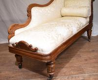 Regency Chaise Longue Sofa Walnut Lounge Day Bed (5 of 25)