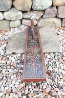 Scandinavian / Danish 'Folk Art' Horse handle mangle board with chip carving & original  black/red paint BPD c.1820 (15 of 19)