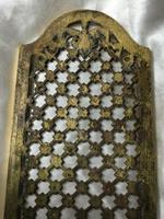 19th Century Antique Regency Gilt Bronze Coat of Arms Sunflower Acanthus Plaque (7 of 12)