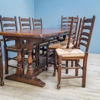 Refectory Table and 8 Ladderback Chairs (2 of 11)