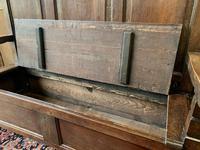 Late 18th Century Box Seated Oak Settle (10 of 19)