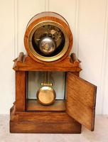 Mid Victorian Drumhead Visible Escapement Mantel Clock (8 of 11)