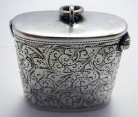 Beautiful Antique Victorian 1895 Solid Sterling Silver English CHESTER Vesta Case Match Box (3 of 9)