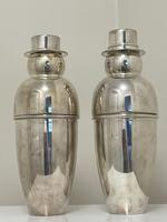 Pair of Decorative Art Deco Style Silver Snowmen Cocktail Shakers (18 of 42)
