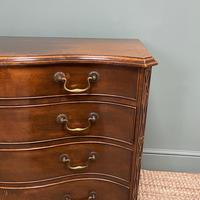 Victorian Mahogany Serpentine Front Antique Chest of Drawers (2 of 6)