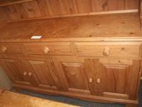 Large Pine Three Drawer Kitchen Dresser (2 of 2)