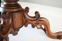 Antique Victorian Figured Walnut Tilt Top Table (3 of 12)
