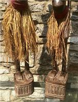 Very Large Pair of Senufo Hand Carved Wooden Figures. Ivory Coast West Africa (3 of 7)
