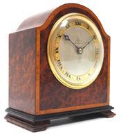 Impressive Amboyna Burr Walnut Edwardian Timepiece Mantel Clock by Dent London (10 of 10)