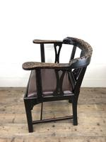 Victorian Carved Oak Gothic Armchair (M-1223) (3 of 12)
