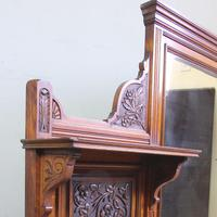 Antique Large Victorian Oak Overmantle Wall Mirror (6 of 9)