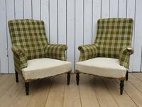 Pair of Napoleon III French Armchairs for re-upholstery (5 of 9)