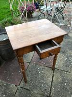 Antique 18th Century French Solid Fruitwood Rustic Side Table With Drawer (4 of 6)