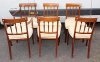 1930's Mahogany Set 6 Dining chairs with Inlay '4+2 Carvers' (3 of 3)