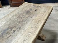 Superb Very Rustic French Oak Bleached Oak Farmhouse Dining Table (14 of 32)