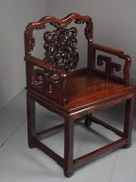 Pair of Chinese Qing Dynasty Hongmu Throne Chairs (6 of 12)