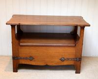 Arts & Crafts Solid Oak Monks Bench (3 of 12)