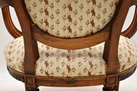 Antique French Carved  Walnut Salon Armchair (8 of 13)