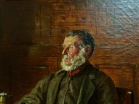 BAD NEWS FROM THE WAR! 'Walter Tomlinson' Portrait Oil Painting (15 of 16)