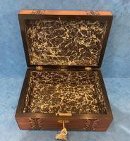 Victorian Walnut Inlaid Jewellery Box (11 of 12)