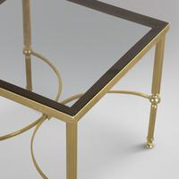 Pair of Lacquered Brass and Smoked Glass Tables (2 of 3)