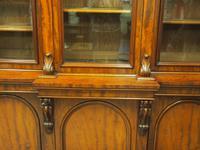 Victorian Mahogany Breakfront Cabinet Bookcase (14 of 19)