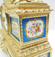 Antique 8 Day Ormolu Mantel Clock Sevres Mother & Child French Mantle Clock (8 of 16)