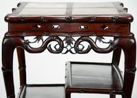 Fine 19th Century Chinese Huali Stand / Table with Alabaster Inserts (8 of 11)