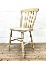 Set of Four Antique Beech & Elm Farmhouse Dining Chairs (8 of 8)