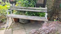 19th Century Cast-iron and Oak Garden Bench (3 of 6)