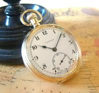 Swiss Vertex Pocket Watch 1926 15 Jewel 10ct Rose Gold Filled Case FWO (2 of 12)
