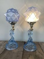 Pair of Art Deco Walther & Sohne Glass Table Lamp, Rewired & Pat Tested c.1930 (8 of 9)