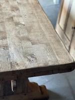 Superb Rustic Large Bleached Oak Farmhouse Table with Extensions (19 of 36)