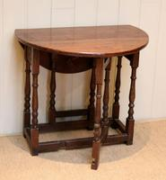 Small Oak Drop Leaf Table c.1920 (6 of 8)