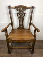Pair of 19th Century Chippendale Style North Country Armchairs (8 of 10)