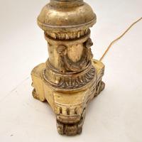 Pair of Antique Italian Silver Gilt Floor Lamps (5 of 12)