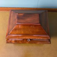 Unusual Victorian Mahogany Antique Tea Caddy (3 of 7)