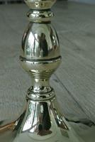 Pair of Unusual Acorn Regency Period Brass Candlesticks c.1820 (2 of 6)