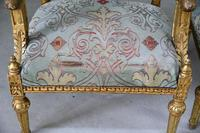 Pair of Gold French Louis XVI Style Armchairs (5 of 12)